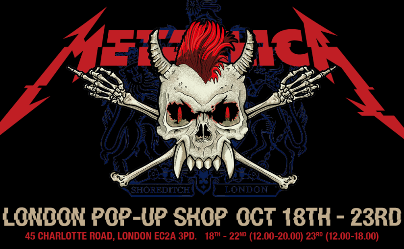 Metallica opening pop-up shop