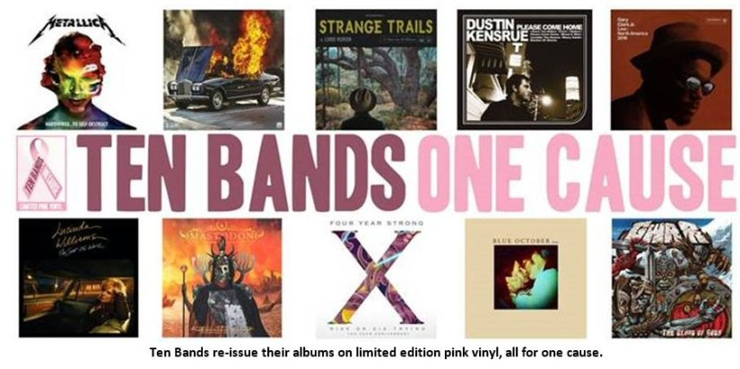Bands re-issue albums in limited edition pink forcharity