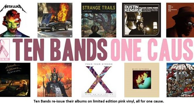 Bands re-issue albums in limited edition pink for charity