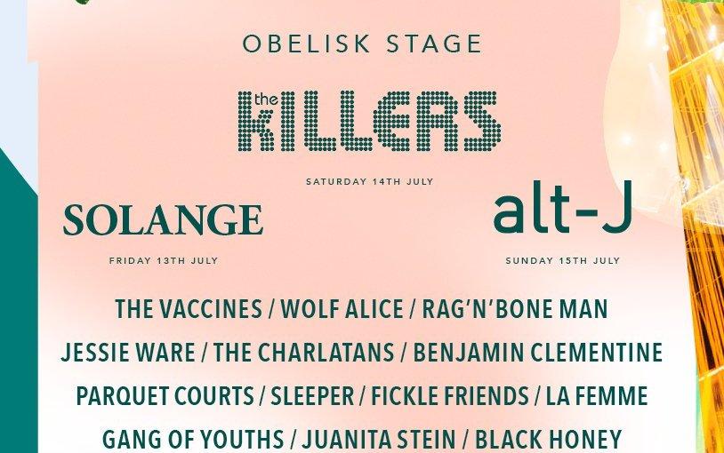 The Killers and Alt J among the names to headline Latitude2018